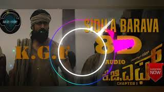 Sidila Barava Song KGF |KGF CHAPTER 1|8D AUDIO|