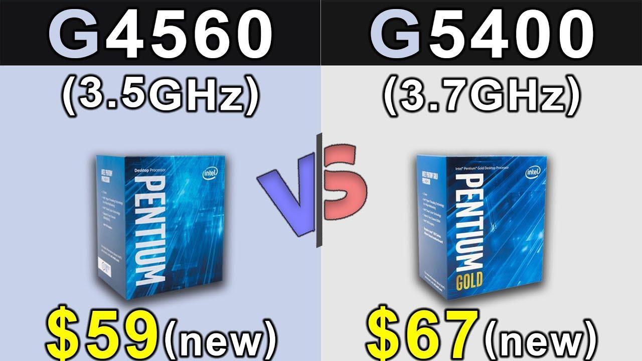 Pentium G4560 vs G5400   Which is Better Value for MONEY ...