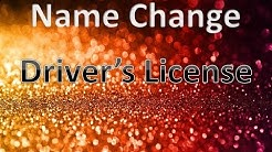 Name Change for Driver's License Florida