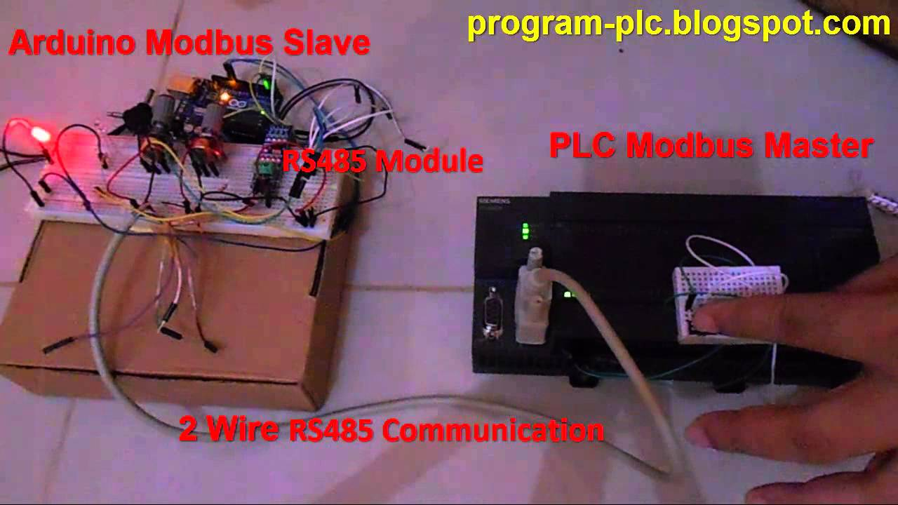 RS485 Communication Between PLC Modbus Master and Arduino Modbus Slave