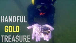 TOP 5 GOLD TREASURE FINDS!! Underwater Metal Detecting with WATER SNAKES!!