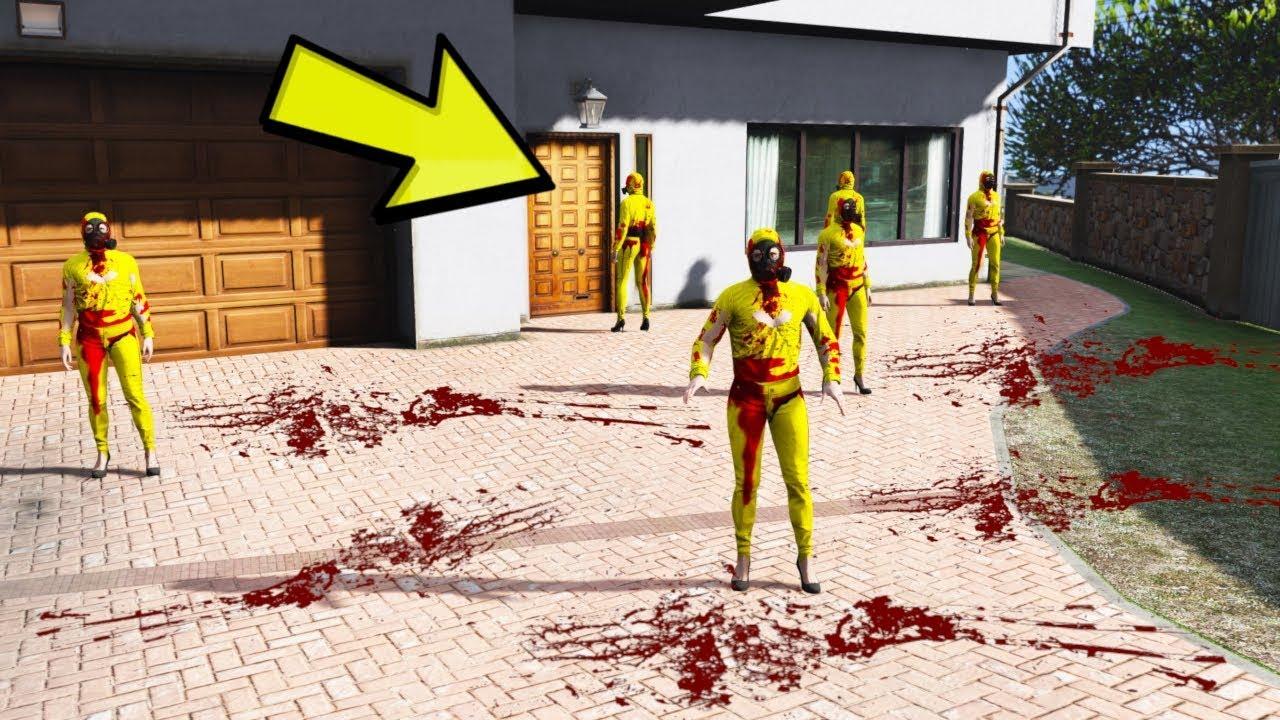 YARDIM EDIN KANLI EVE TEKRAR GELDILER !! (GTA 5)