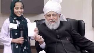 Bustan-e-Waqfe Nau, 8 Jan 2012, Educational class with Hadhrat Mirza Masroor Ahmad(aba)