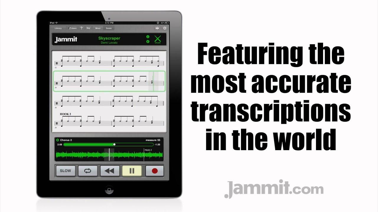 Jammit Ipad Iphone App Demi Lovato Video Skyscraper Learn To Play