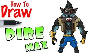 How to Draw Dire Max | Fortnite