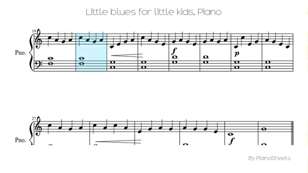 Piano easy piano blues sheet music : Little blues for little kids [Piano Solo] - YouTube