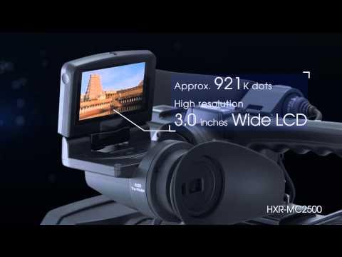 """Sony HXR-MC2500 Camcorder AVCHD HD / SD con sensor Exmor R CMOS de 1/4"""""""