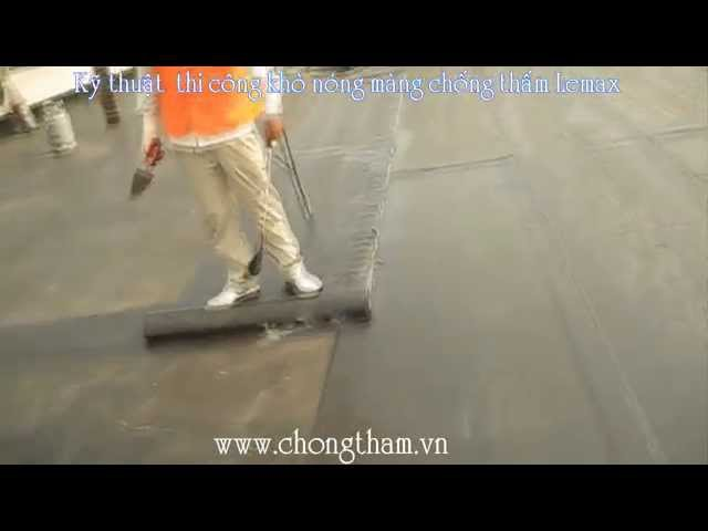 Chống thấm sàn mái bằng màng chống thấm khò nóng Lemax 3mm PE-APP