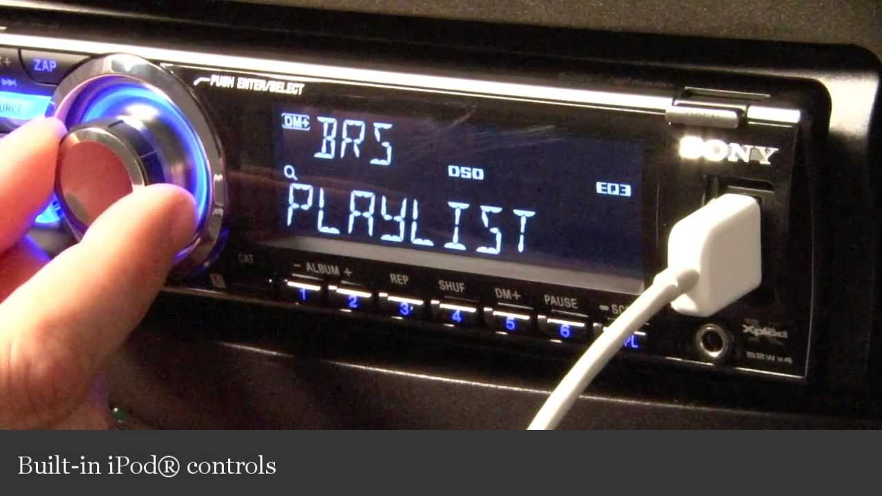 hight resolution of sony cdx gt700hd cd receiver display and controls demo crutchfield video