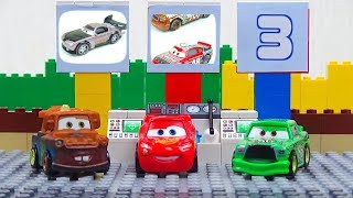 Experemental Cars Race. Disney Cars Toys Video for Kids Lightning McQueen Jackson Storm Boost