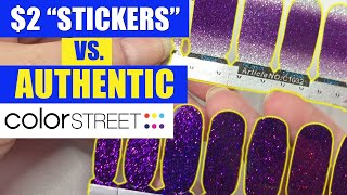 COLOR STREET VS. $2 NAIL STICKERS (HONEST) APPLICATION + WEAR TEST