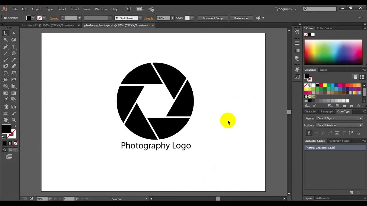 how to create stacked logos