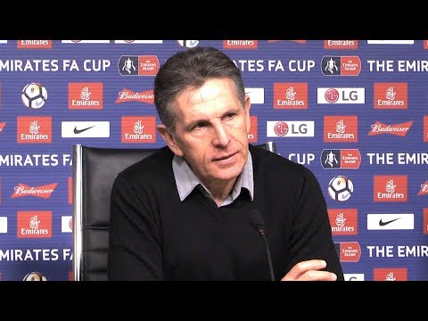 Claude Puel Full Pre-Match Press Conference - Leicester v Fleetwood - FA Cup Replay