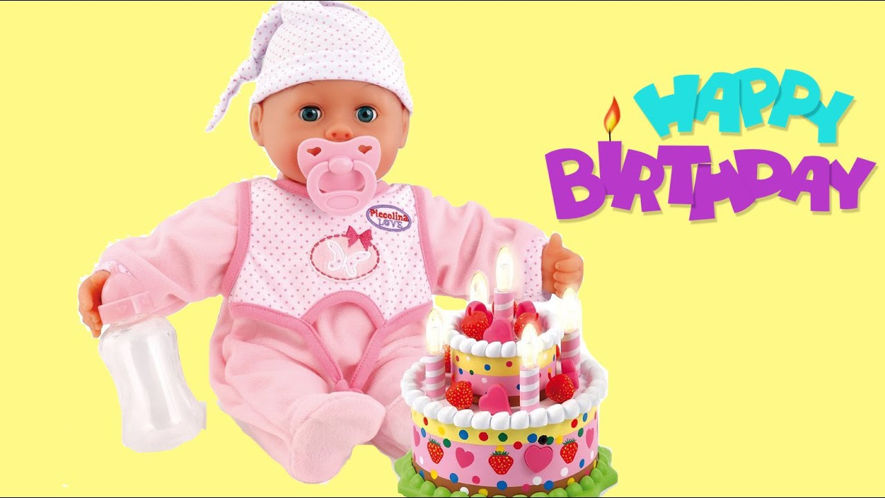 Bayer Design Laugh Cry Baby Doll Birthday Set Happy Birthday Songs
