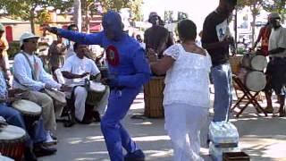 Watch the Urban Super Hero DangerMan dance, the African dance!