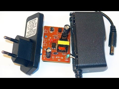 Simple 12V 1A LED Power Supply - with schematic and transformer autopsy