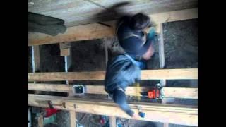 Деревянный пол 1этаж в монолитном доме из опилкобетона.(, 2016-03-30T09:28:24.000Z)