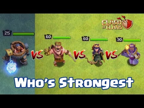 BATTLE MACHINE VS BARBARIAN KING VS ARCHER QUEEN VS GRAND WARDEN | WHO's STRONGEST | CLASH OF CLANS