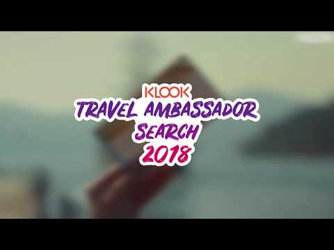 Klook Travel Ambassador Search 2018