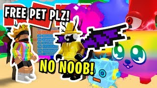 LE PLAYER IN ROBLOX BUBBLEGUM SIMULATOR GIVESAWAY SUPER CRAZYLY 'RARE' OP PET!! [MISE À JOUR 28]