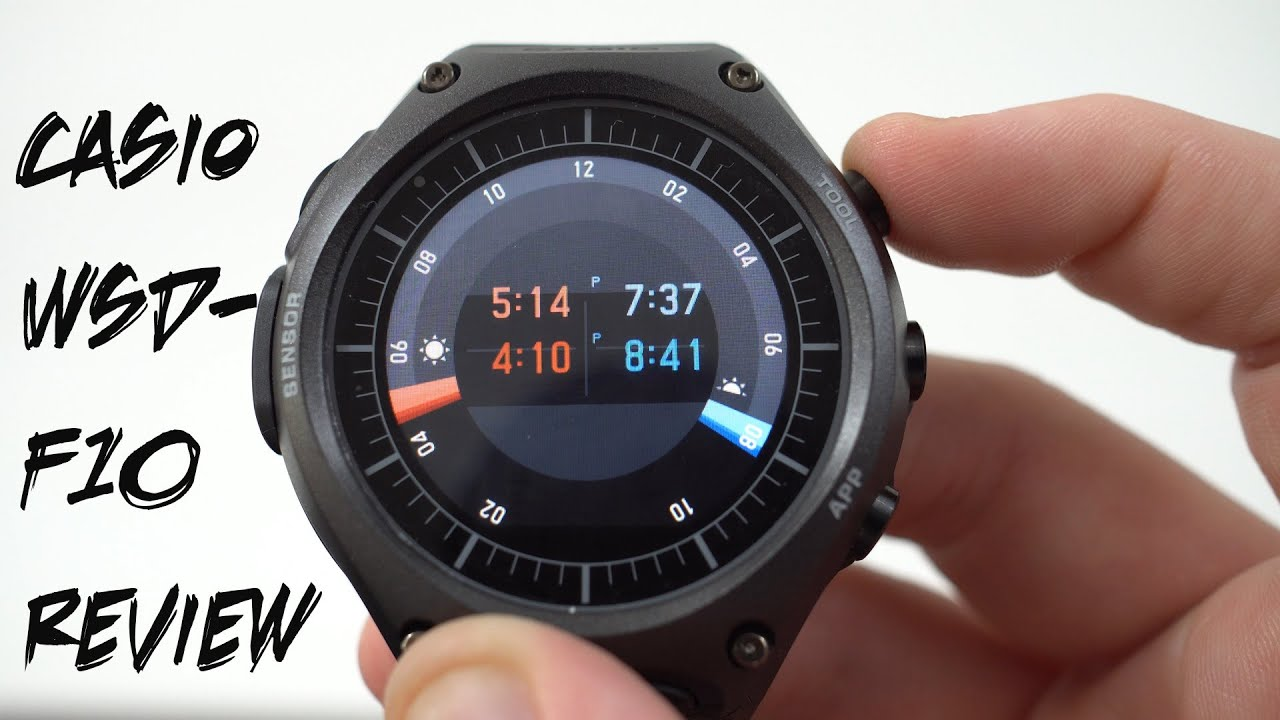 Casio WSD-F10 Android Wear Watch Official Full Review ...