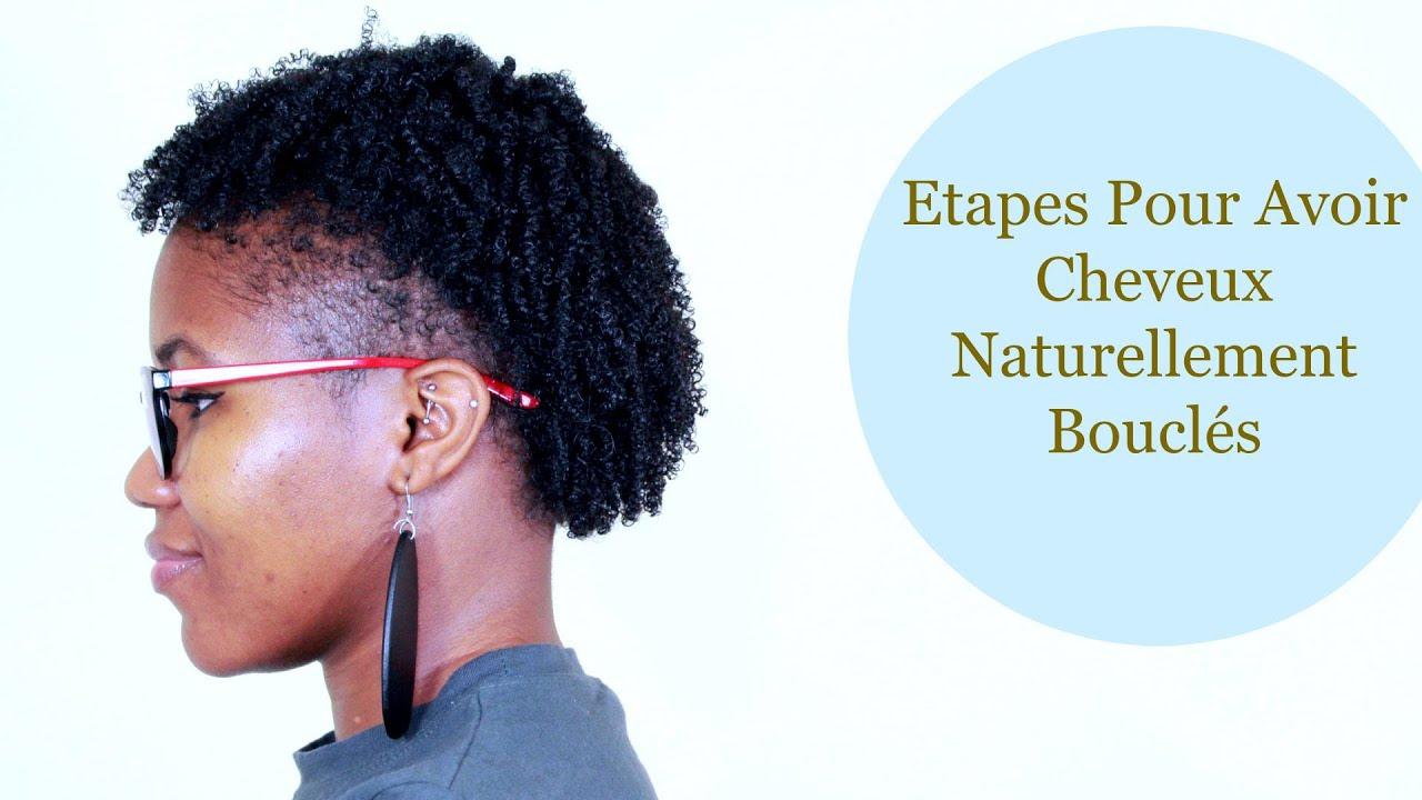 comment avoir des cheveux naturellement boucl s pour cheveux cr pus afro et nappy youtube. Black Bedroom Furniture Sets. Home Design Ideas