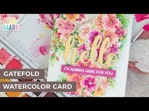 Gatefold Watercolor Floral