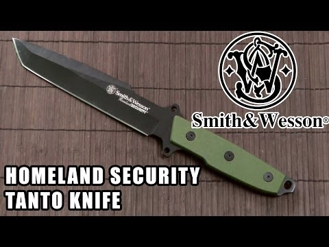 S&W Homeland Security tanto knife review