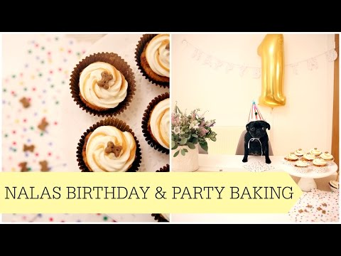 Nalas 1st Birthday & Puppy Party Baking
