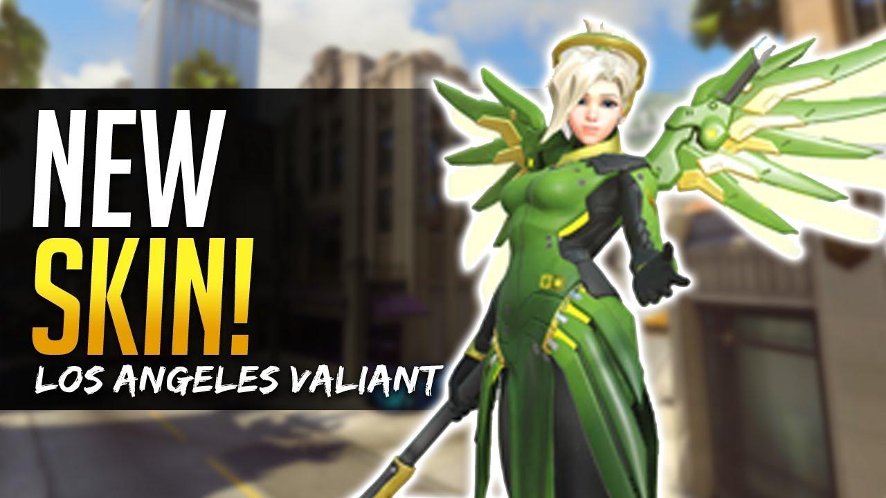 Overwatch New Mercy Skin Los Angeles Valiant Owl Team Los