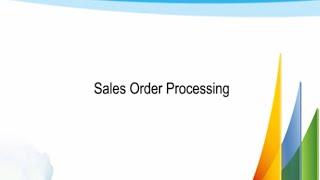 Sales Order Processing in MS Dynamics GP 2013