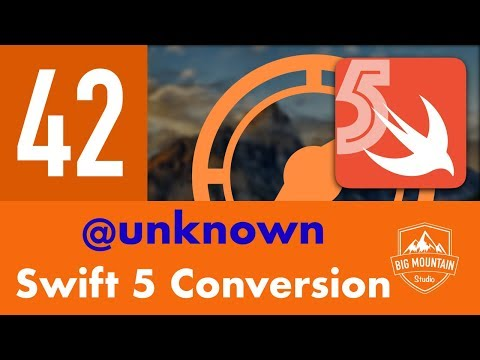 Swift 5 Conversion and @unknown - Part 42 - Itinerary App (iOS, Xcode 10, Swift 5) thumbnail