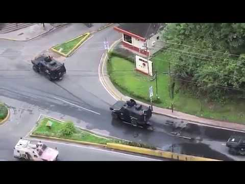 Encapuchados fuertemente armados llegan a San Antonio de los Altos