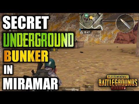 "SECRET ""UNDERGROUND BUNKER"" LOCATION IN MIRAMAR MAP | BEST LOOTING PLACE | PUBG MOBILE"