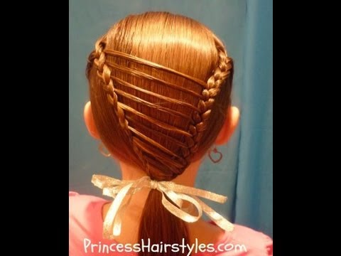 Stripe Overlay Braid Unique Hairstyles For Girls Youtube