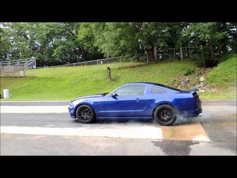 2013 Ford Mustang GT 5.0 Track Package Burnout at the Drag Strip!
