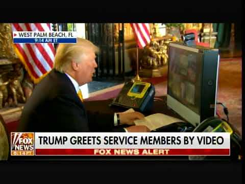 """President Trump Greets Troops by Video on Thanksgiving Morning: """"We love You!"""""""