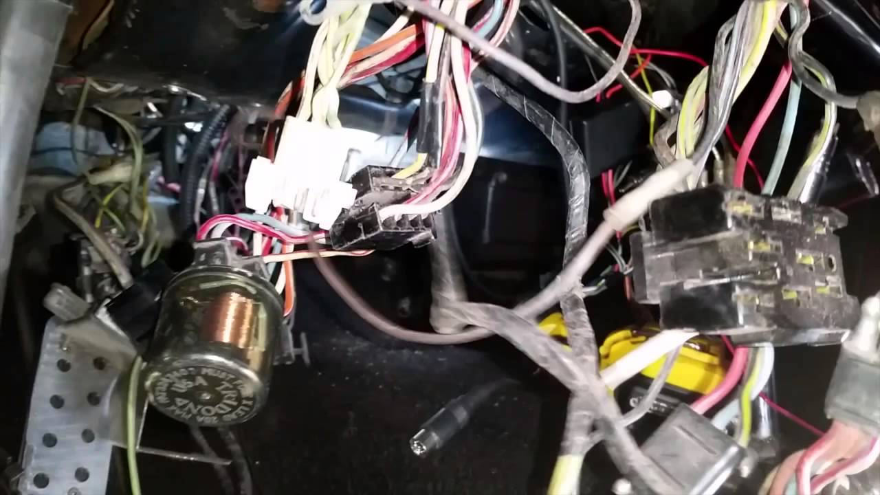 wiring harness under dash bill s 1968 hertz shelby gt350 mustang fastback day 23 youtube [ 1280 x 720 Pixel ]
