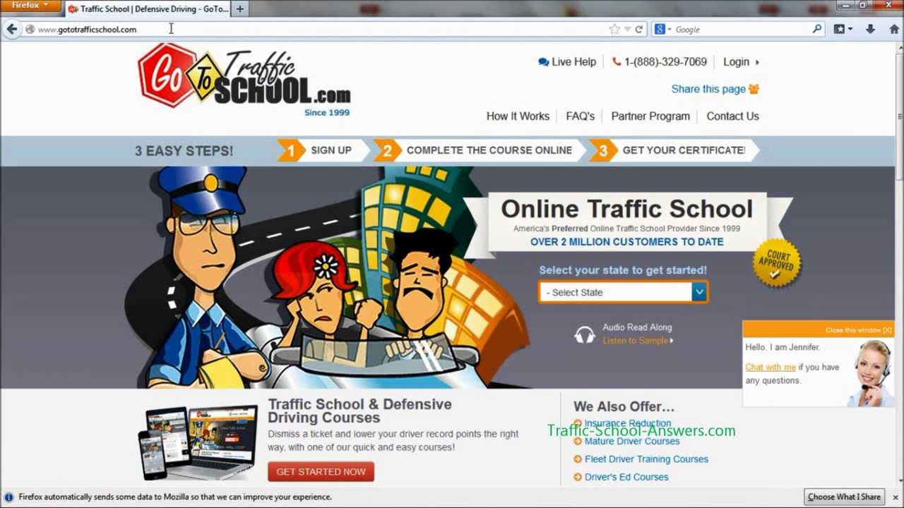 Go To Traffic School >> Gototrafficschool Referral Code Answers And Tips How To Pass