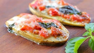 Vegetarian Gluten Free Eggplant Pizza Recipe - Kids Friendly