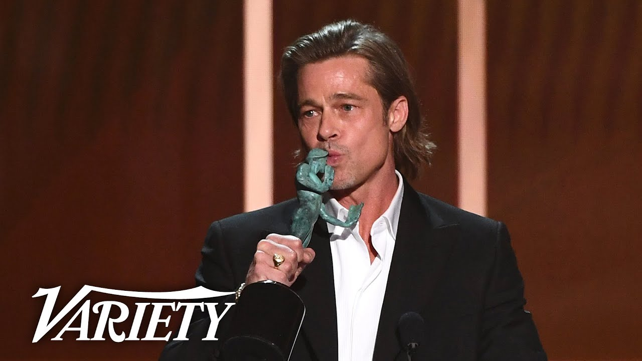 Brad Pitt Jokes About Quentin Tarantino's Foot Fetish in 'Once Upon a Time in Hollywood' Speech