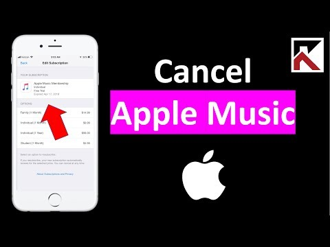 How To Cancel Apple Music Subscription 2018