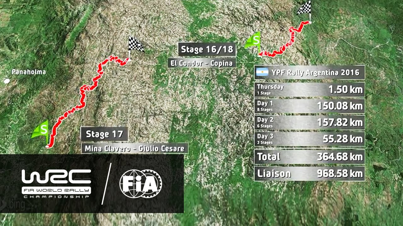 WRC YPF Rally Argentina Challenging Stages YouTube - Wrc sweden 2015 map