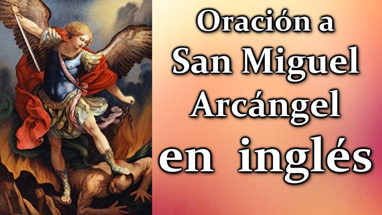 Oracion A San Miguel Arcangel En Inglés Youtube