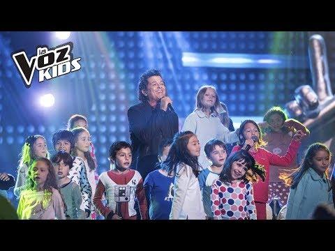 Carlos y Elena Vives cantan Monsieur Bigoté   La Voz Kids Colombia 2018