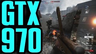 Battlefield 1 GTX 970 OC Winter Update (Multiplayer) 1080p | FRAME-RATE TEST