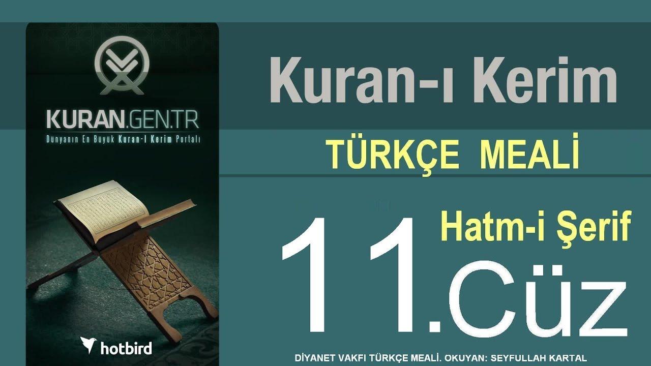 Türkçe Kurani Kerim Meali, 11 Cüz, Diyanet işleri vakfı meali, Hatim, Kuran.gen.tr