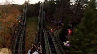 "Phoenix Pov Hd ""at Night"" Knoebels Amusement Resort Roller Coaster On-ride Back Seat Gopro Video"
