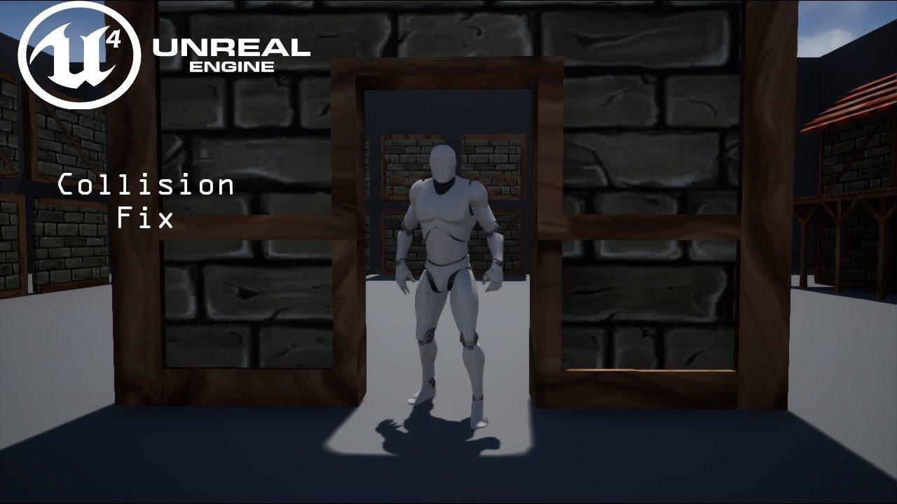 UE4 TUTORIAL - Custom Collision/Collision Fix