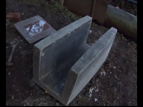 Дренажный лоток бетонный своими руками